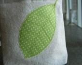 Reusable Sandwich Bag, Leaf Applique
