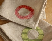 Reusable Cloth Napkins, Personalized on Unbleached Cotton, Set of 12 Nine inch Lunch Napkins