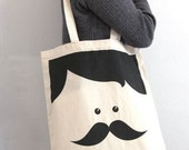 Mr. Moustache tote bag