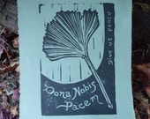 Ginko Block Print\/Original hand printed art