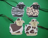 4 Handknit by Sheep Gift Tags