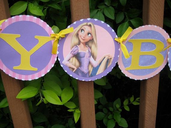 Rapunzel Happy Birthday Banner