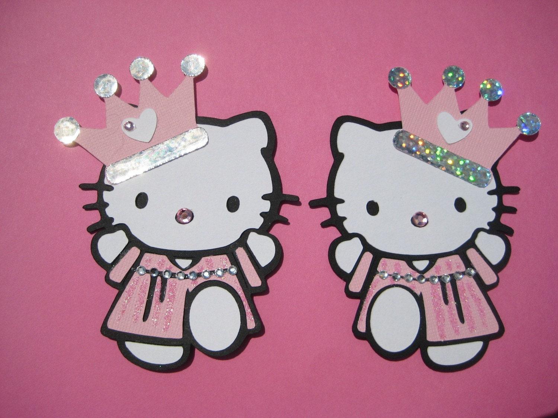 2 hello kitty princess twins - Princesse hello kitty ...