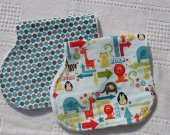 New-The Couture Mama Everyday Burp Cloth Set in Riley Blake's Alphabet Soup