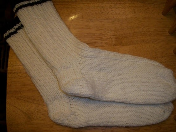 handmade mens Wool socks size 11 to 12 012
