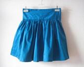 Cobalt Shine Skirt - S