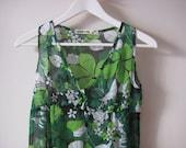 Tropical Green Sundress - Small