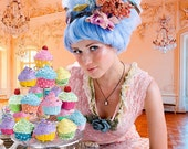 Marie Antoinette Fake Cupcakes for photography session props shoot ,first birthday party photo prop Picture