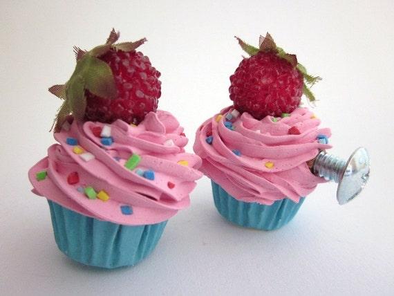 Knobs Fake Cupcake Dresser Knobs Set Of 2 Kitchen By Shimrita