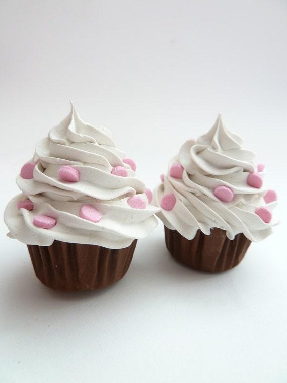 Fake Cupcakes Door Knobs Set Of 2 Handle Pulls Kitchen