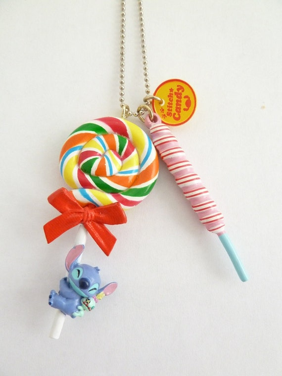 Stitch Disney Candyland lollipop Necklace great for your theme party