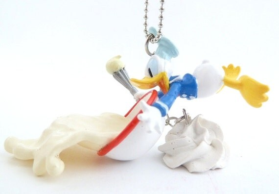 The Bakers Necklace great gift for patissier Donald Duck Disney necklace unique gifts for birthday girls or as birthday favors