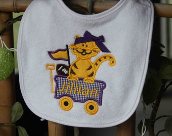 Monogram Tiger Football Bib