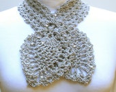 Crochet Pattern PDF -  Pineapple Spangle Scarf - PA-124c