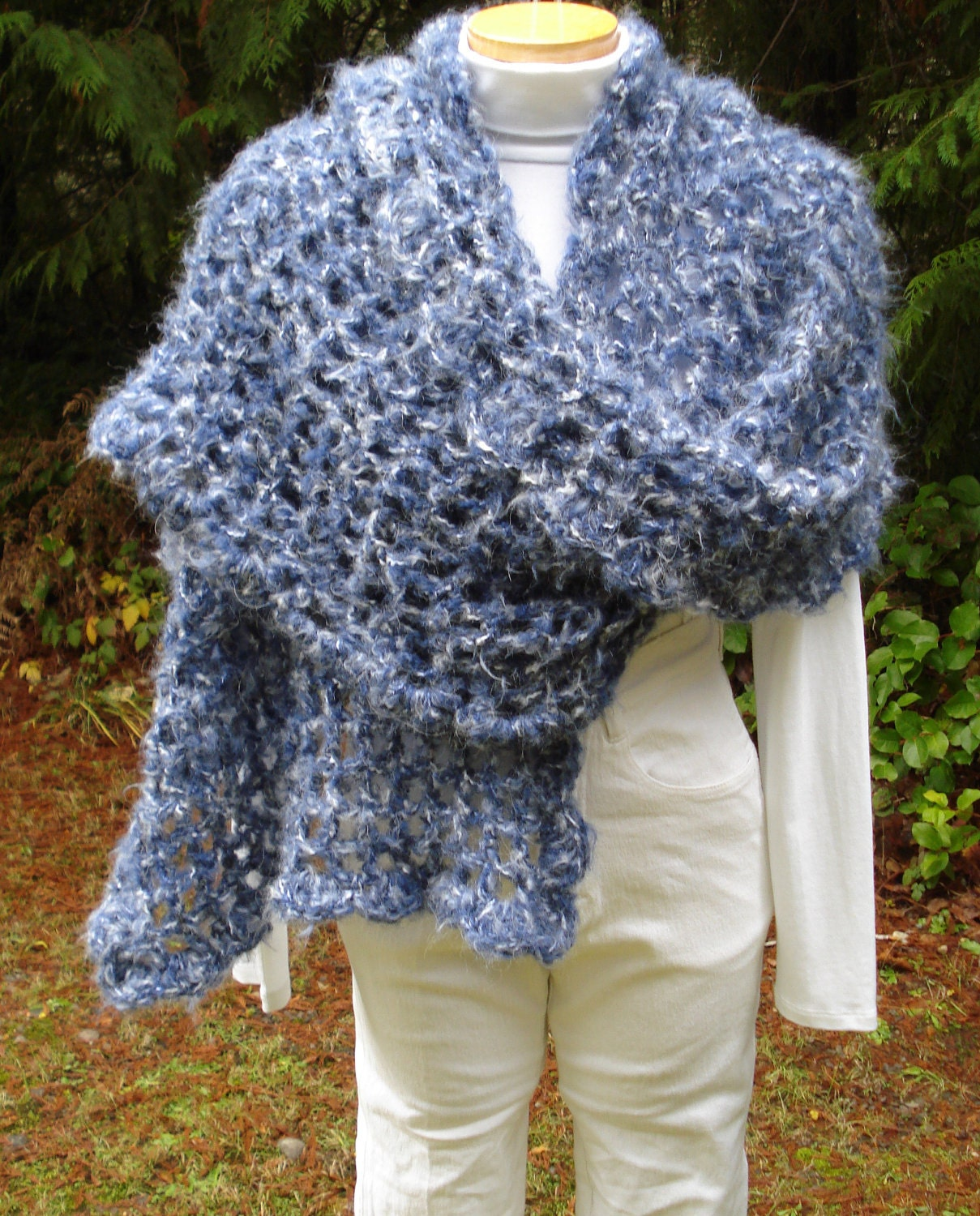 Crochet Scarf Pattern Easy Quick : Crochet Pattern PDF Quick and Easy Wrap and Scarf