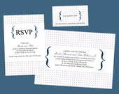 Dots and Brackets - printable wedding invitation suite