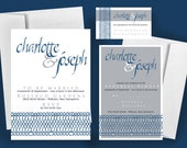 Printable Wedding Invitation, Something Blue - Print at Home