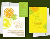 Printable Wedding Invitation, Citrus - Print at Home