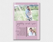 Candy Stripes with engagement photos, a Printable Wedding Invitation
