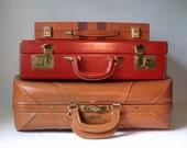 1940's Leather Suitcase, Vintage