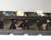 Vintage Industrial Baking Pans, Set of 12
