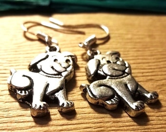 Cute  Puppy Dog Earrings