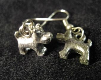 Terrific Terriers Earrings Silver or Gold
