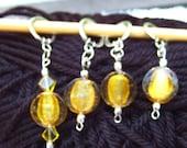 Dumbledore's Lemon Drop Stitch Markers