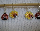 Lady Bugs and Daisy Stitch Markers