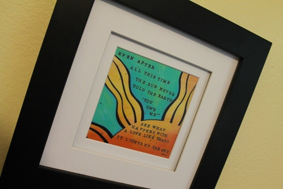 5x5 high quality art print inspired by Hafiz quote