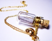Message in a Bottle necklace. Harry Potter and the Sorcerer's Stone. Gold