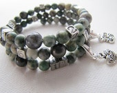 Jade and Agate Caregiving Bracelet