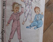 Reserved for YCNeedle Simplicity Pattern Baby Toddler Pajamas Size1/2 50's 60's