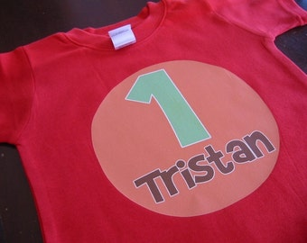 Personalized BIRTHDAY Name and Number Baby Bodysuit or Toddler Tee - Available in various colors and sizes