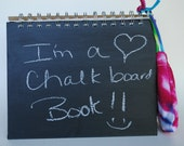 Recycled Chalkboard Activity Notebook Journal Large