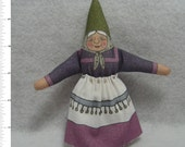 GNOME DOLL TOY - GnomeMa Elder Female of the Woodland and Home Variety - Nature Table Figure - Free Shipping Continental United States
