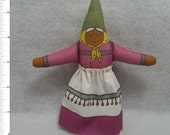 GNOME DOLL TOY - Elder Brown Female - of the Garden, Woodland and Home Variety - Free Shipping Continental United States