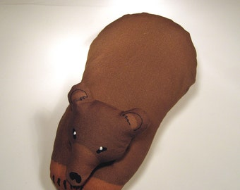 TOTEM BROWN BEAR - Soft Plushie Toy Animals for Nature Table, Play or Collecting - Free Shipping Continental United States