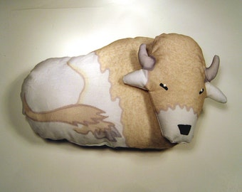 TOTEM WHITE BUFFALO - Soft Plushie Toy Animals for Nature Table, Play or Collecting - Free Shipping Continental United States