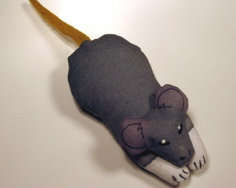 TOTEM GREY MOUSE - Soft Plushie Toy Animals for Nature Table, Play or Collecting - Free Shipping Continental United States