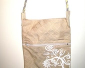 Little Gold Bag with Trident Print