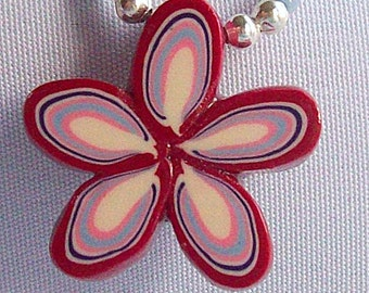 Polymer Clay Layered Flower Necklace