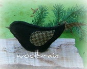 Brown Wool Felted Bird Home Decor Upcycled Eco Friendly Waldorf