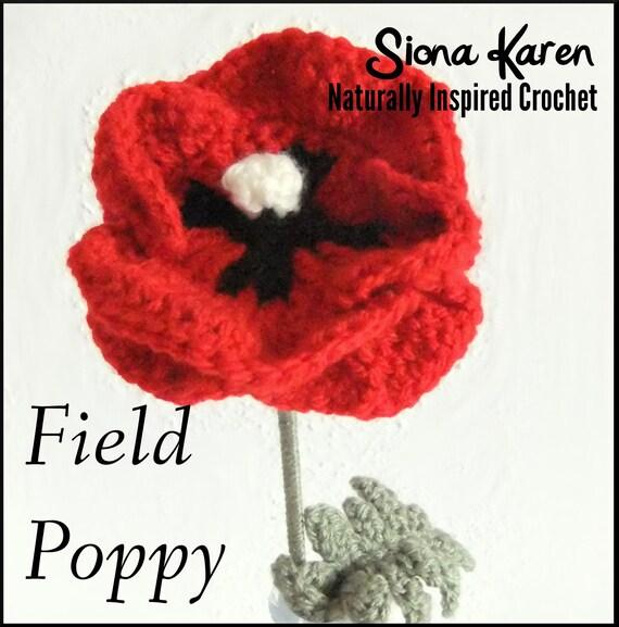 Field Poppy Crochet Pattern PDF