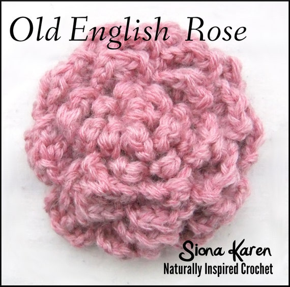 Old English Rose Crochet Pattern PDF