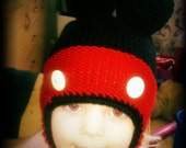 Mickey Mouse inspired beanie for toddler