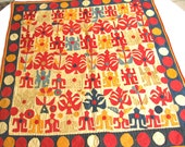 RESERVED FOR KATE Antique Applique Folk Art Textile 10