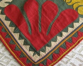 Antique Folk Art Textile Applique  8