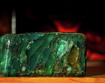Herb Mint Crystal Gem Soap. Peppermint, Rosemary and Basil.