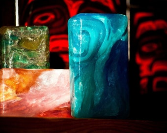 5 full size crystal gem soaps. Customize your own set.